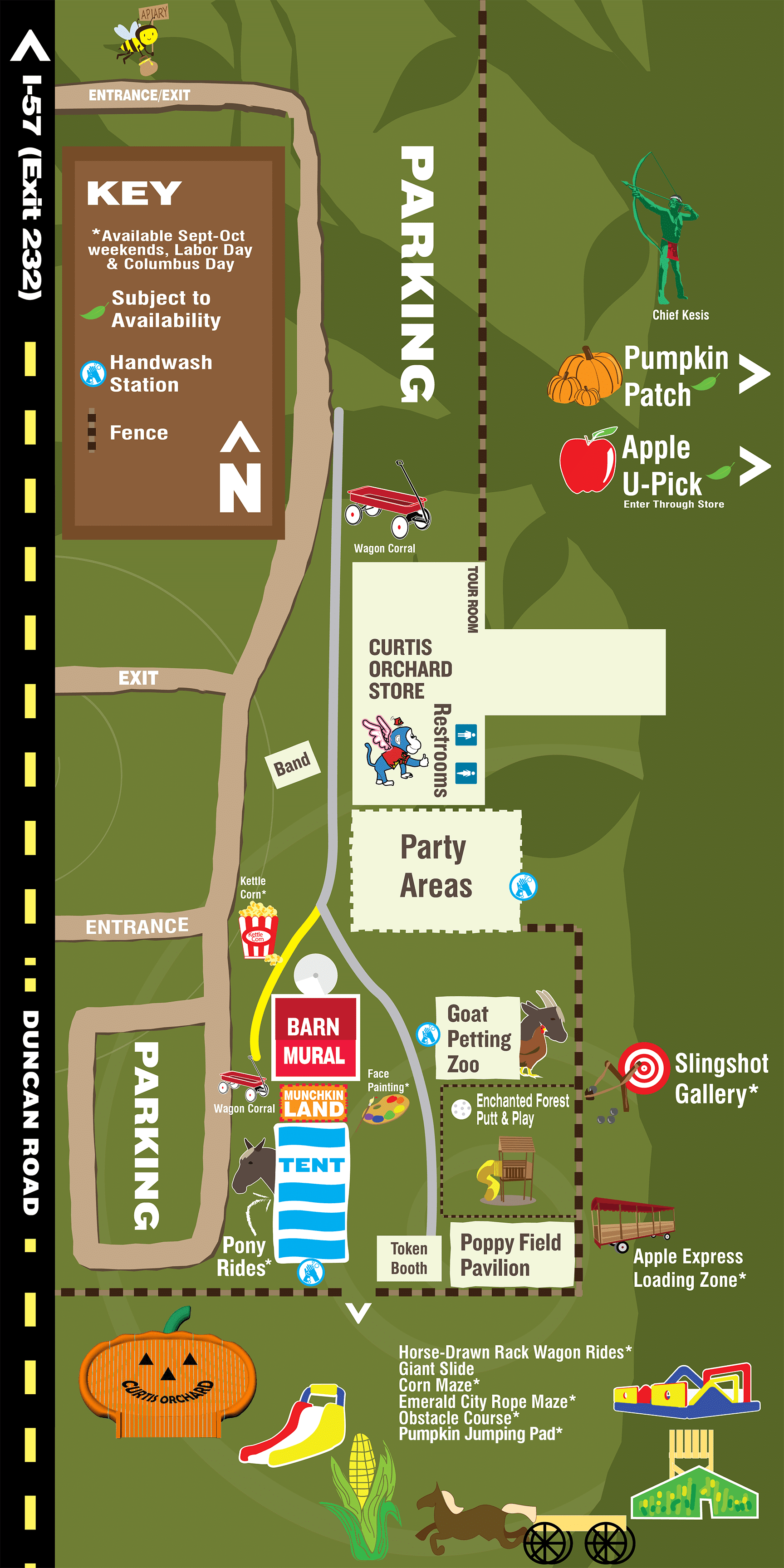 activities map for Curtis Orchard